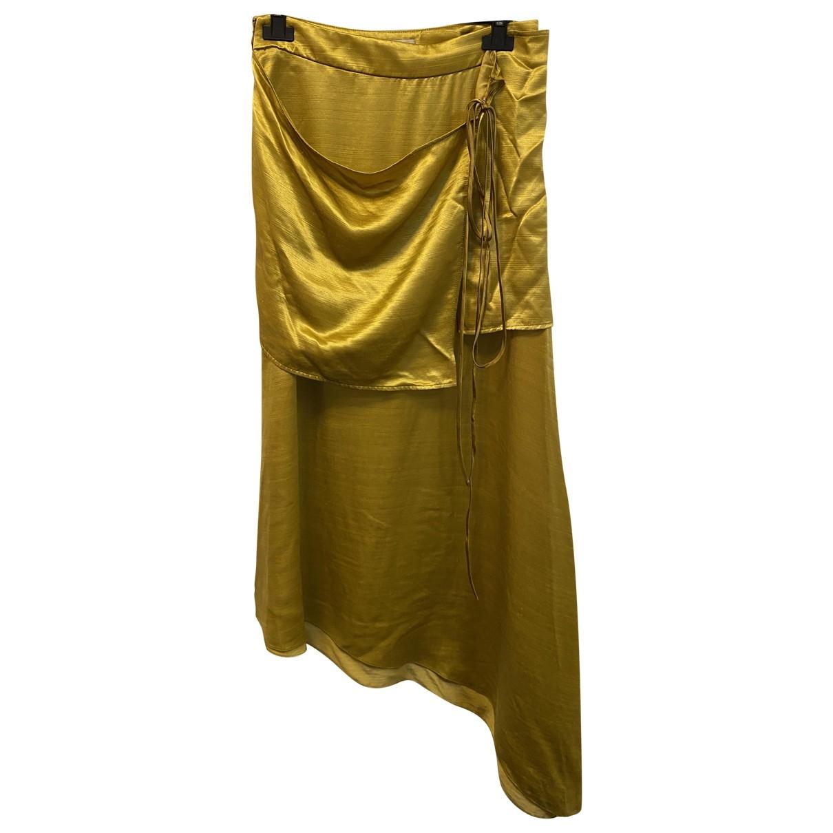 Hellessy \N Gold Silk skirt for Women 36 FR