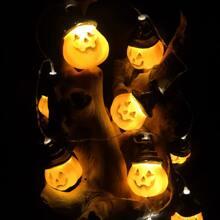 Luz de cuerda de Halloween con 10 piezas bombilla de calabaza