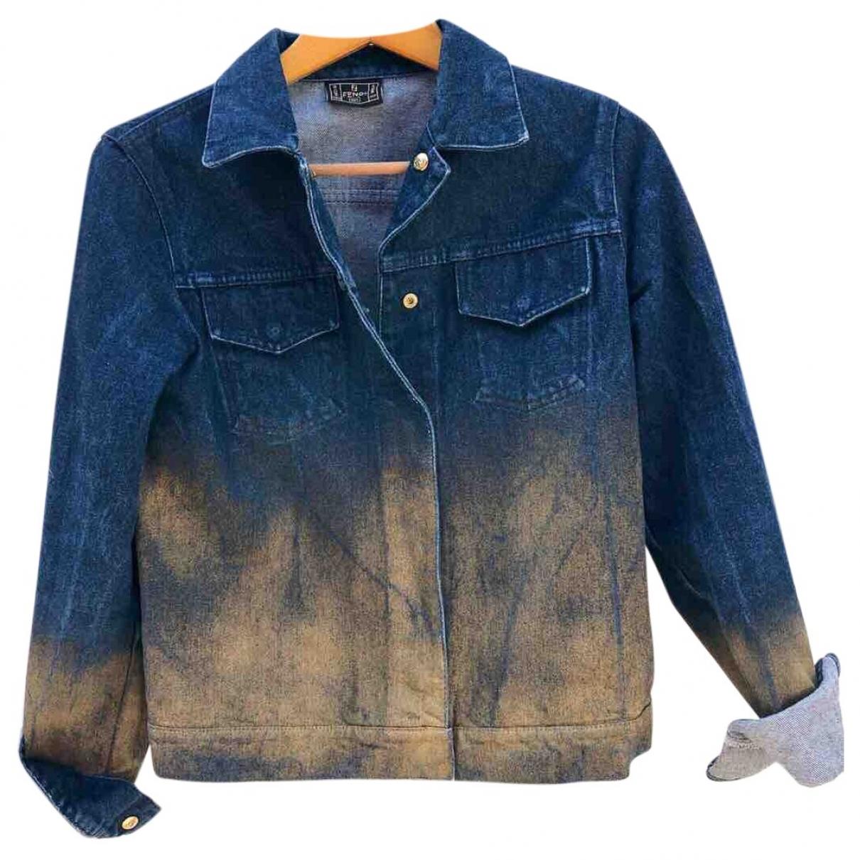 Fendi \N Jacke in  Blau Denim - Jeans