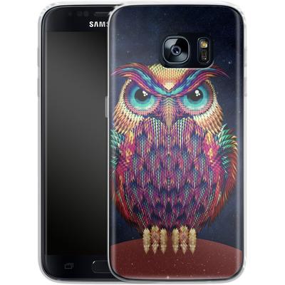 Samsung Galaxy S7 Silikon Handyhuelle - Owl von Ali Gulec