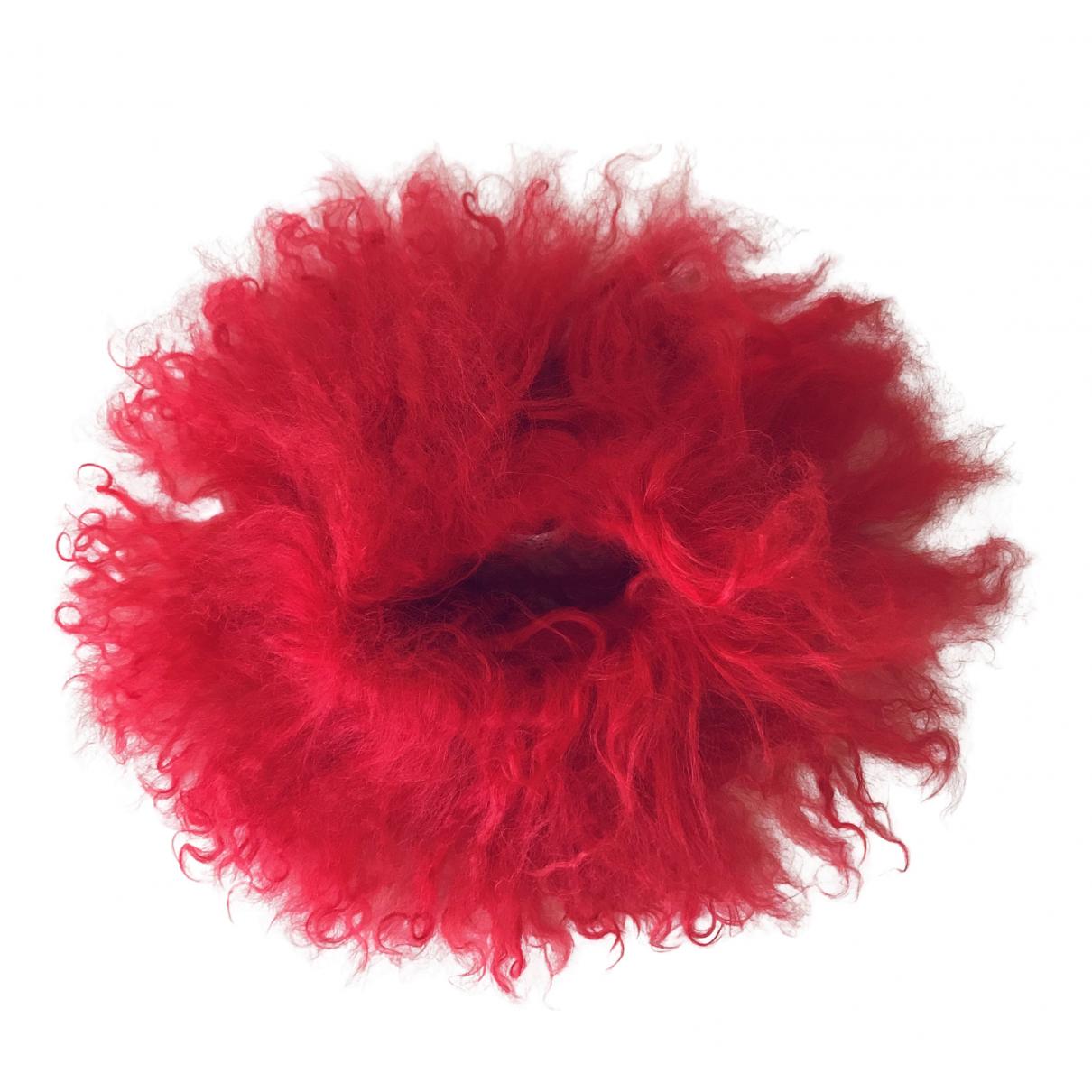 Maison Martin Margiela \N Red Mongolian Lamb bracelet for Women \N