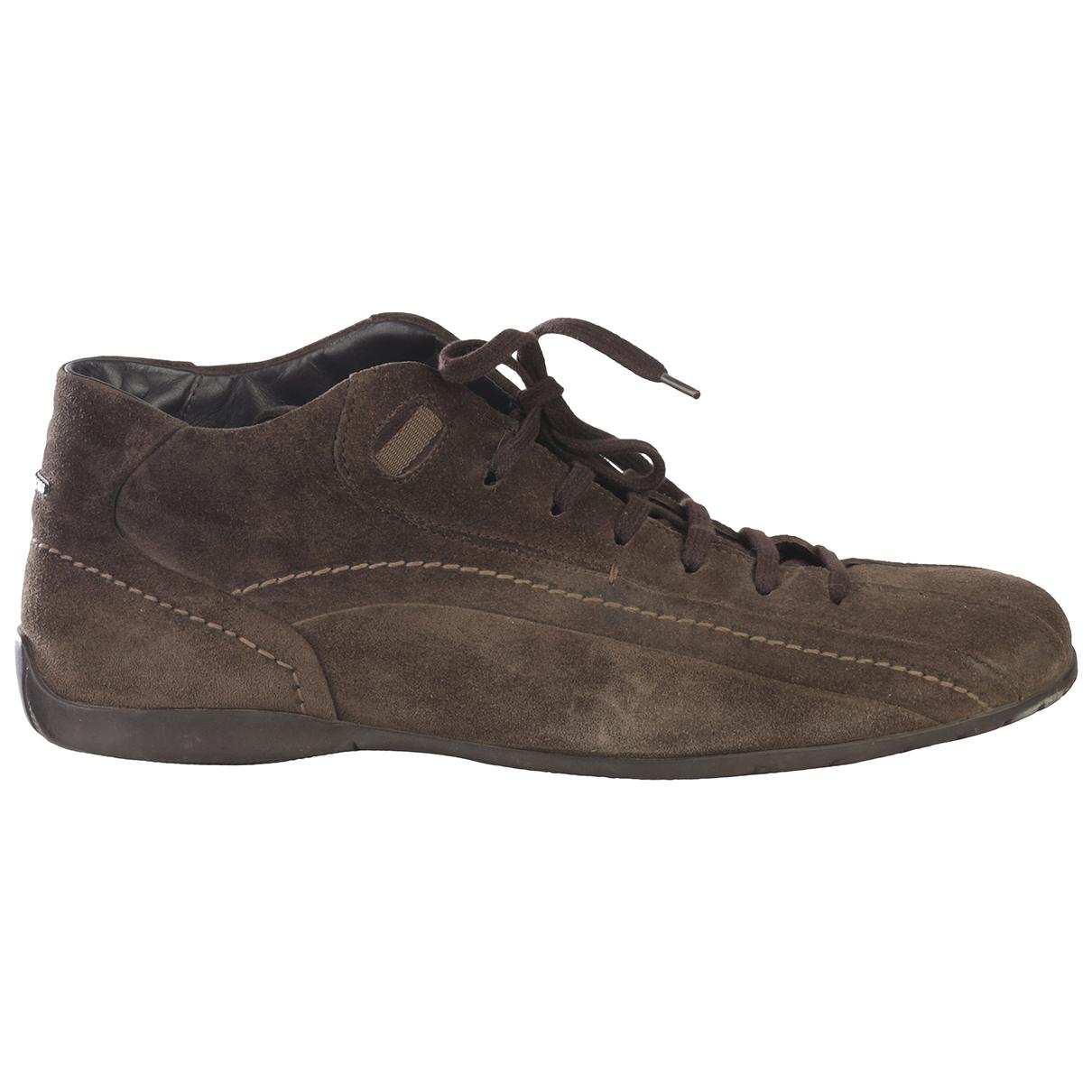 Hugo Boss - Bottes.Boots   pour homme en suede - kaki