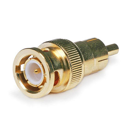 Gold Plated BNC Male to RCA Male Adapter - Monoprice�