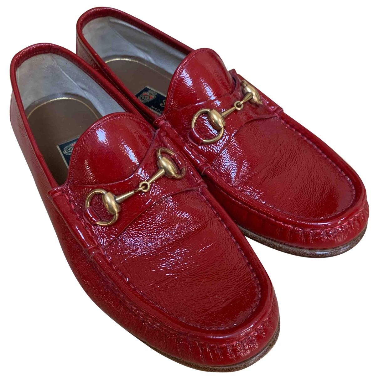 Gucci \N Mokassins in  Rot Lackleder