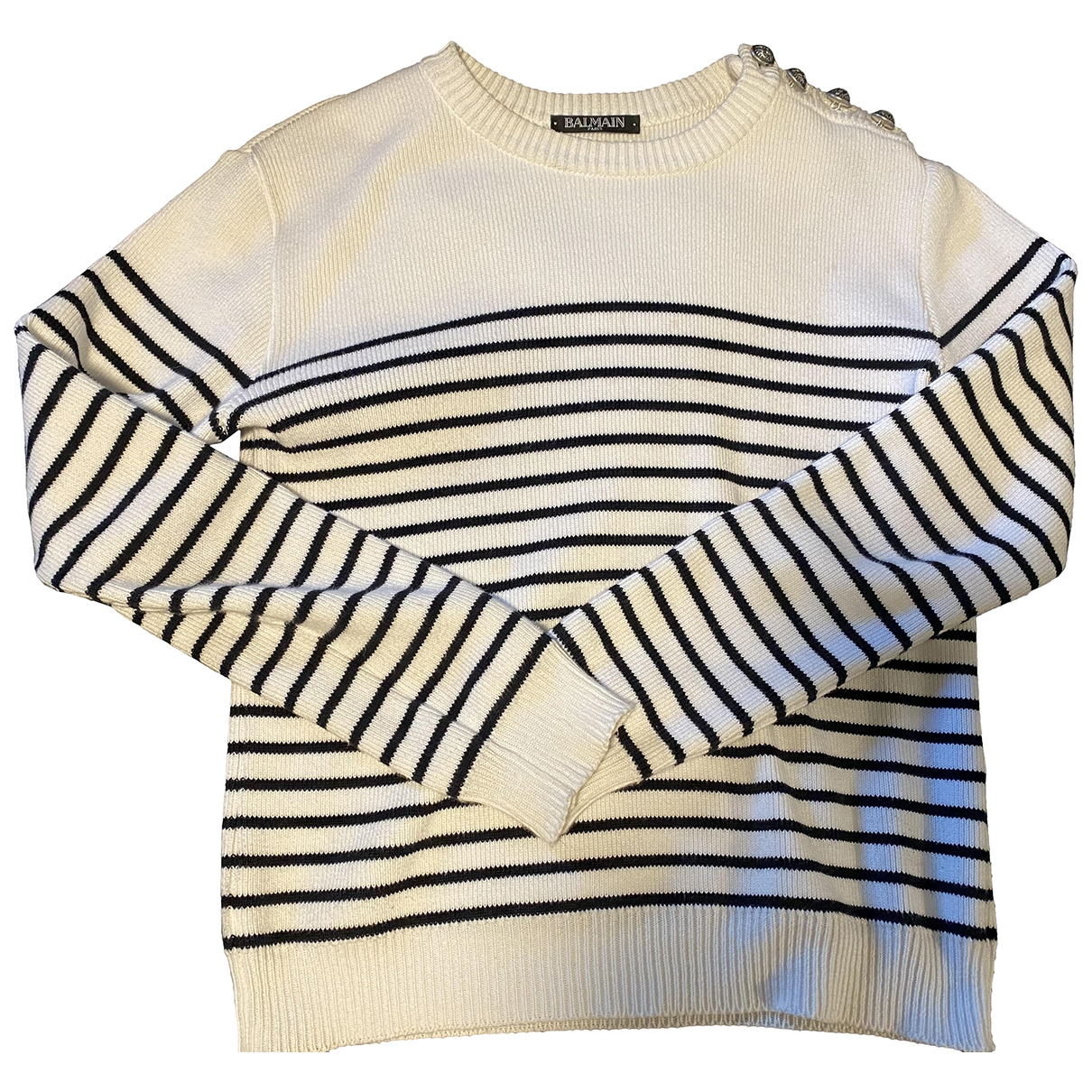 Balmain \N White Cotton Knitwear for Kids 12 years - XS UK
