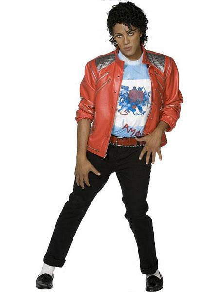 Milanoo Halloween Chaqueta para cosplay de Michael Jackson