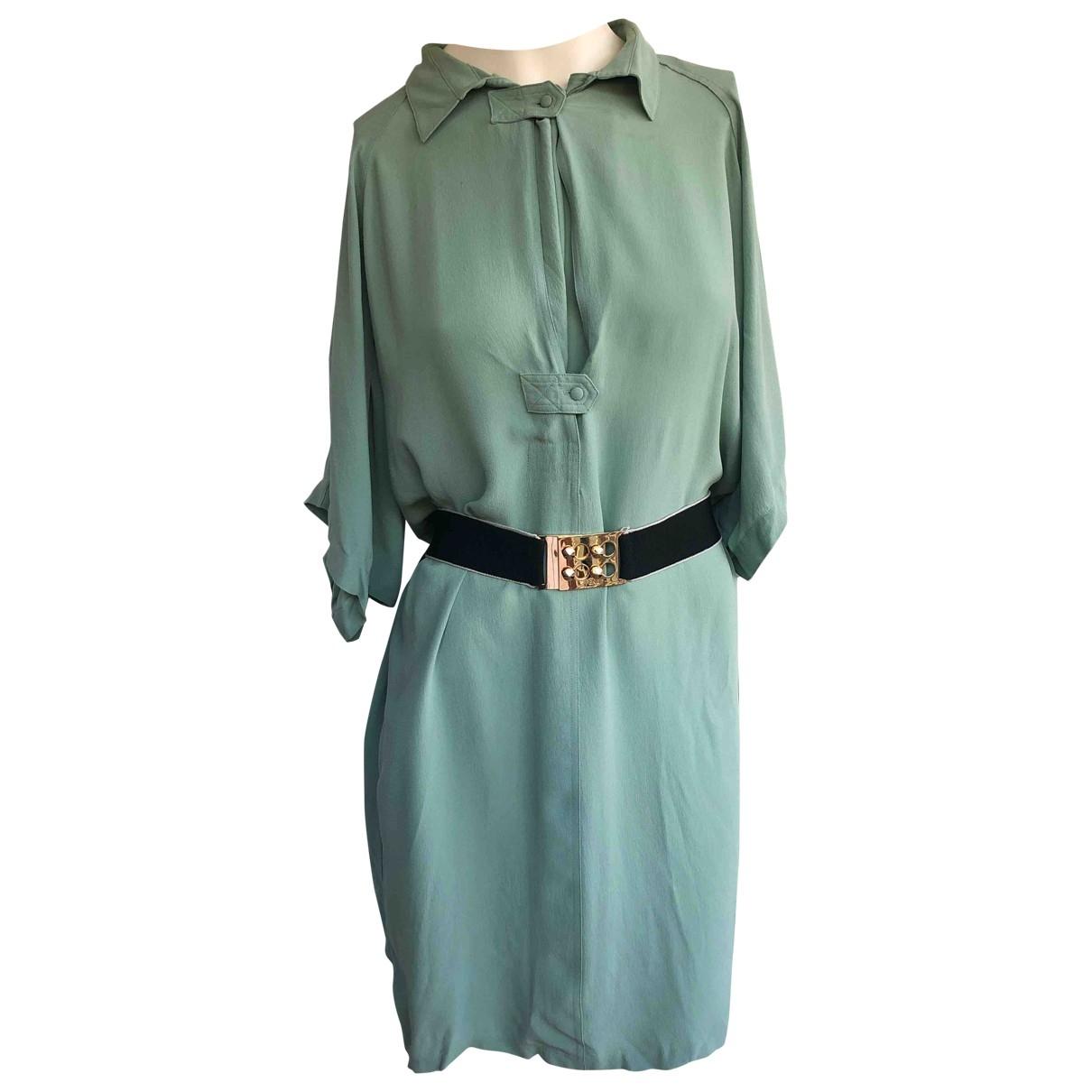 Balenciaga \N Kleid in  Gruen Seide