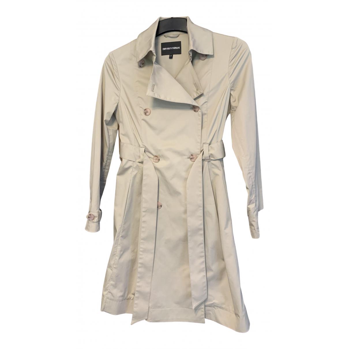 Emporio Armani - Trench   pour femme en coton - beige