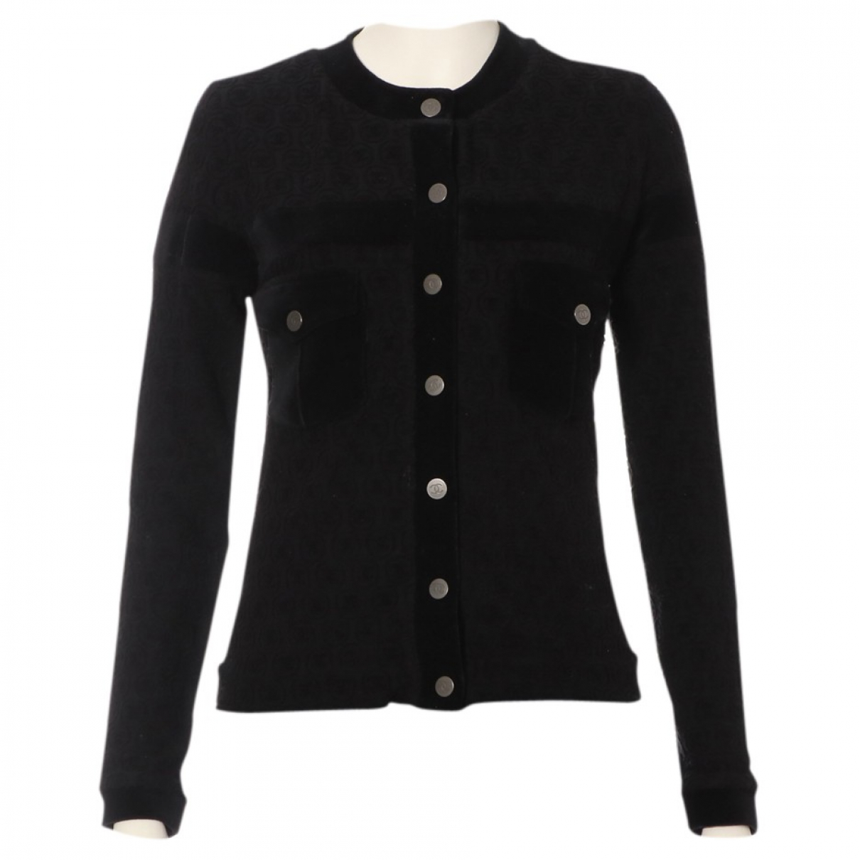 Chanel N Black Velvet  top for Women 34 FR