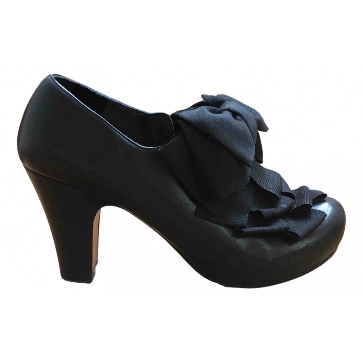 Chie Mihara N Black Leather Heels for Women 36 IT