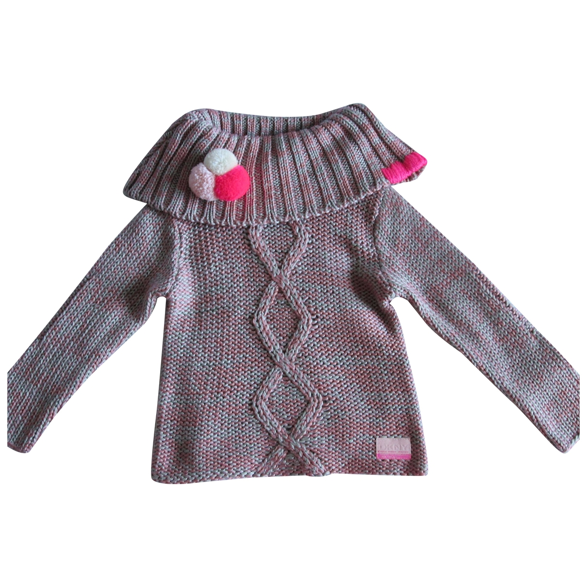 Dkny - Pull   pour enfant en laine - rose