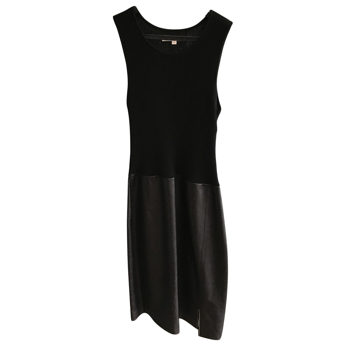 Paule Ka \N Black Leather dress for Women 38 FR