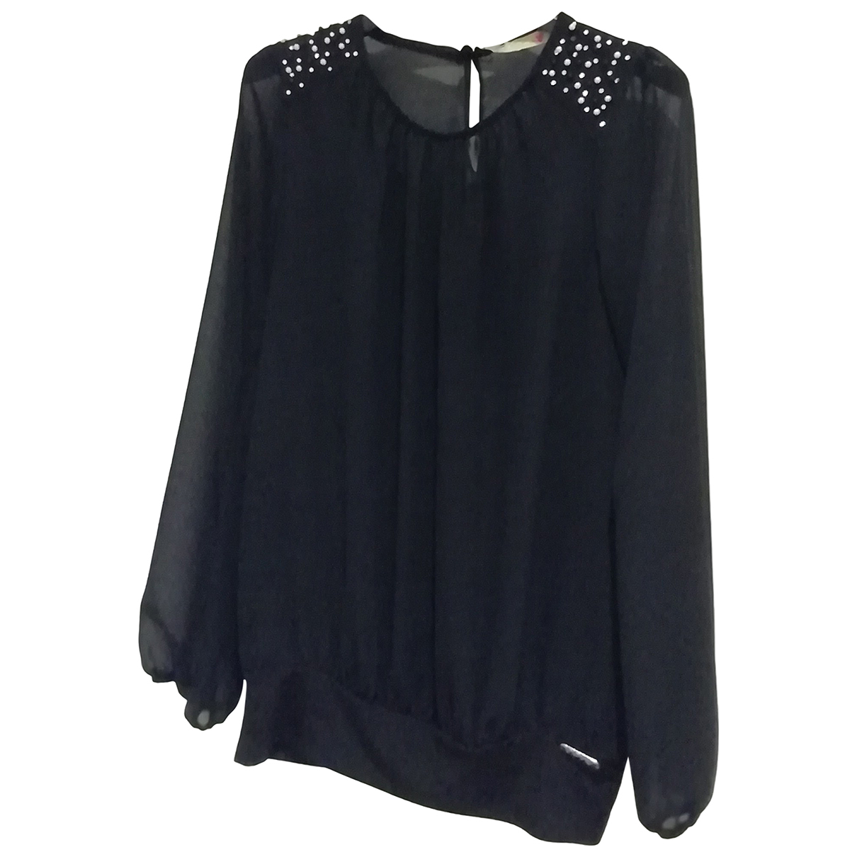 Non Signé / Unsigned N Black  top for Women S International