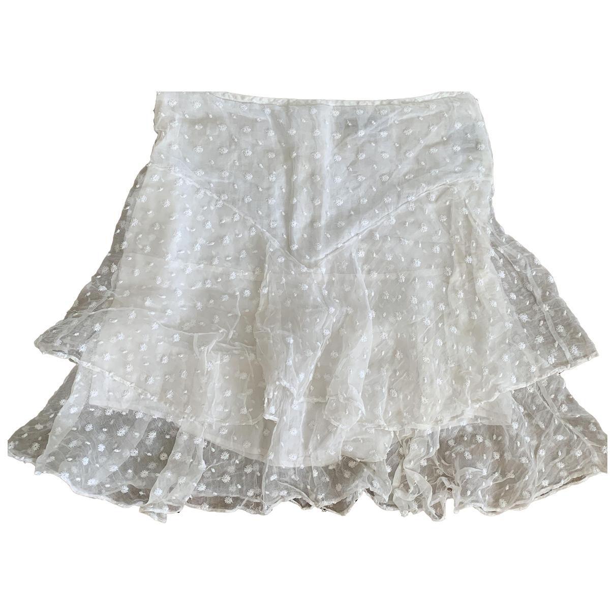 Isabel Marant - Jupe   pour femme en soie - blanc