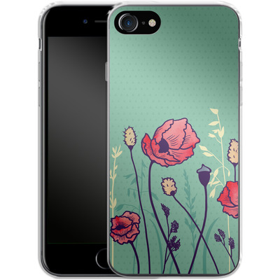 Apple iPhone 8 Silikon Handyhuelle - Summer Field von Little Clyde