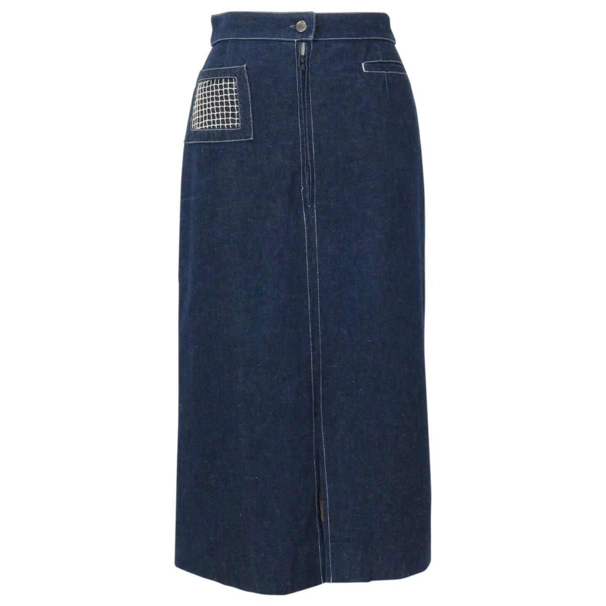 - Jupe Hippie Chic pour femme en coton - bleu