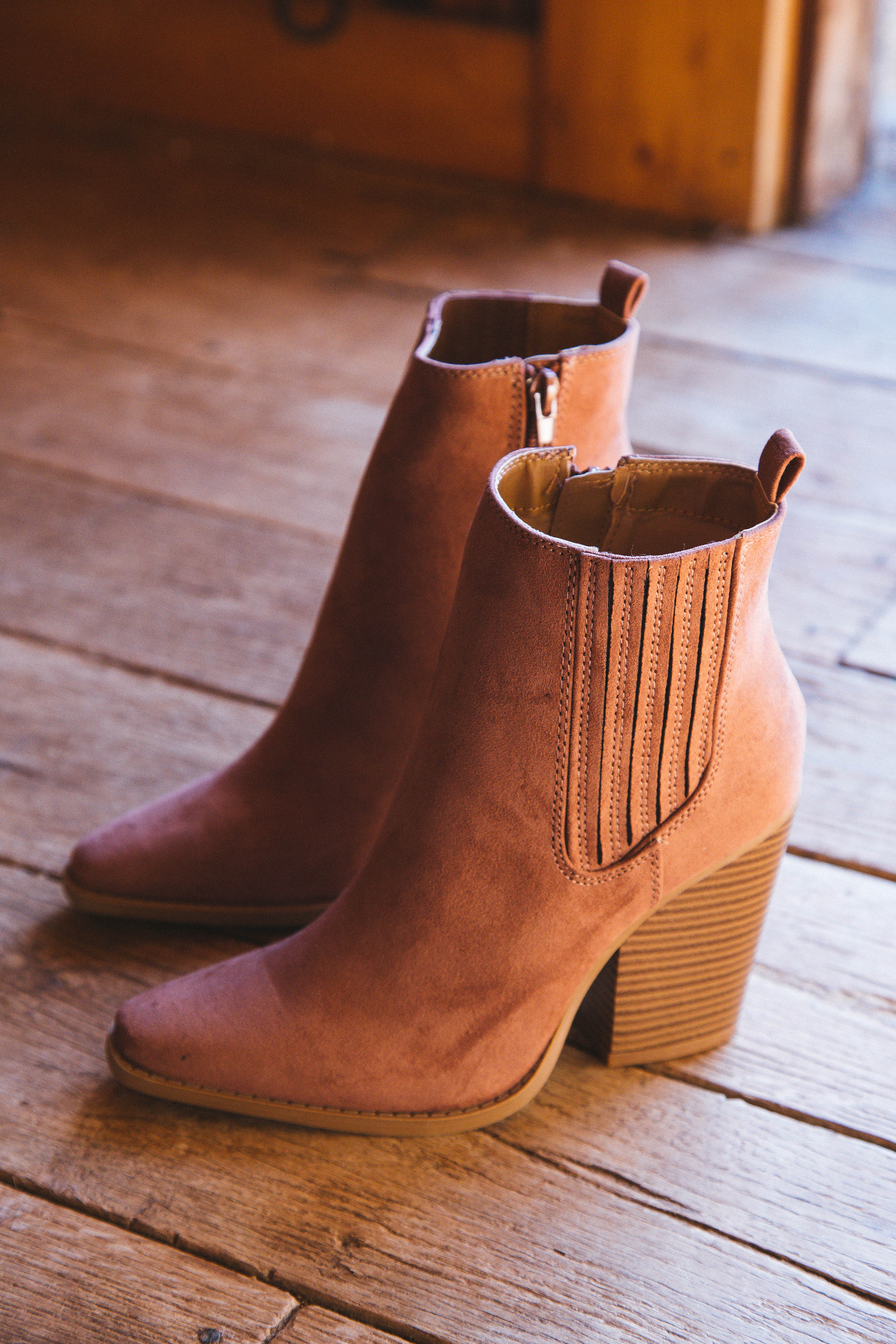 Slay Ankle Bootie Mocha Suede