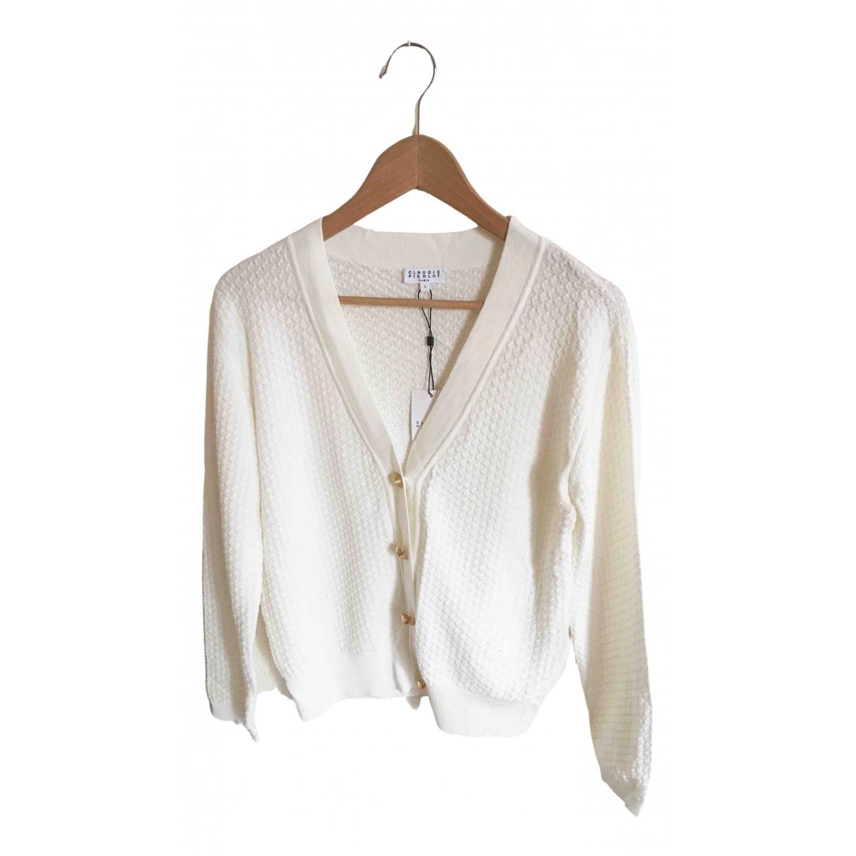 Claudie Pierlot - Pull   pour femme en coton - ecru