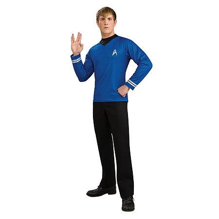 Star Trek Mens Deluxe Spock Dress Up Costume Costume, Large , Blue