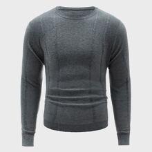 Men Solid Crew Neck Sweater