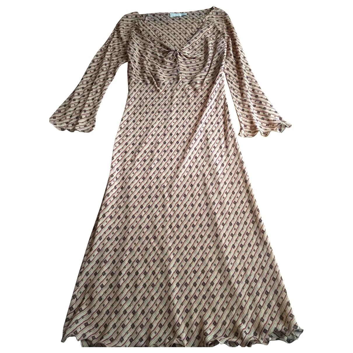 Vestido midi de Seda Pinko