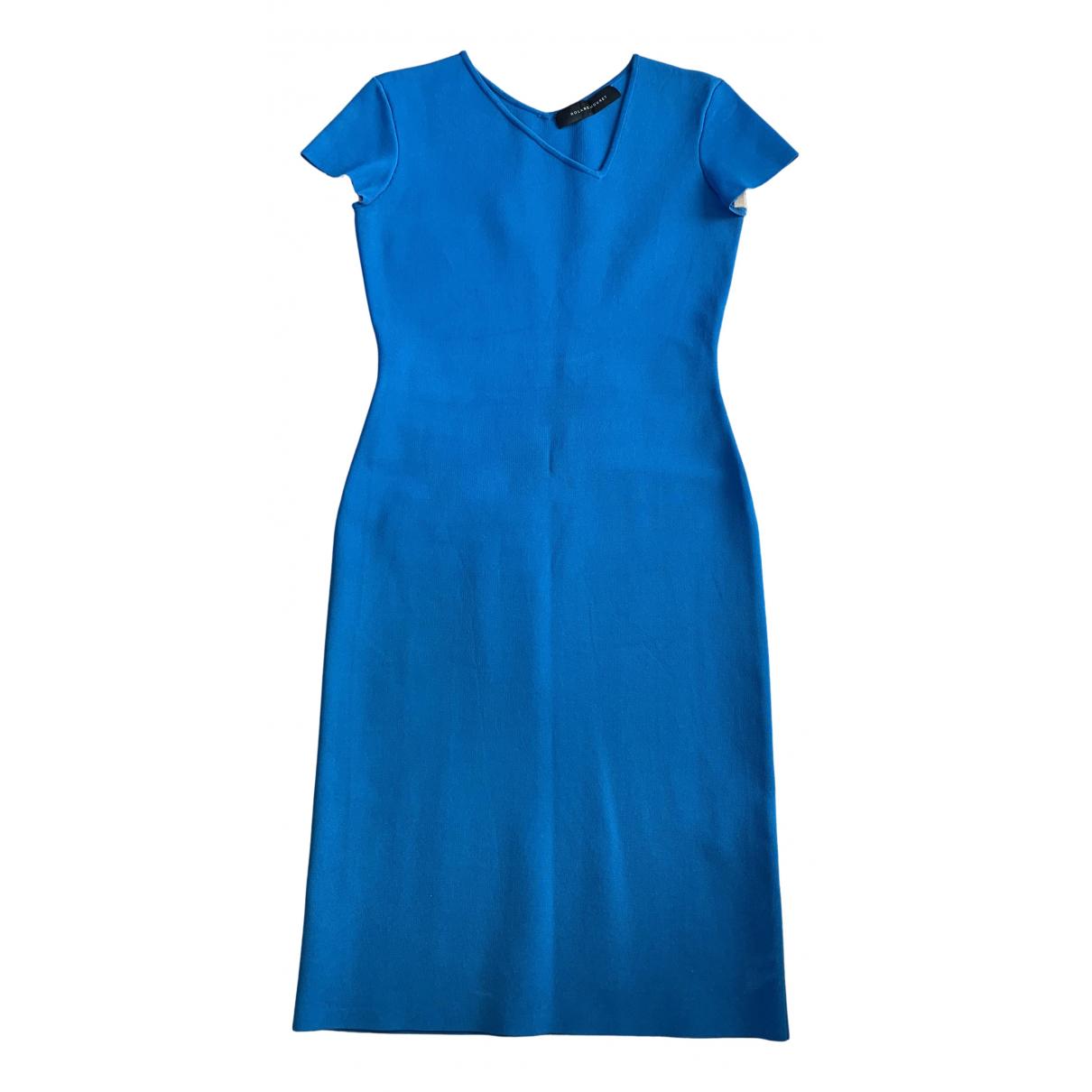 Roland Mouret \N Kleid in  Blau Viskose