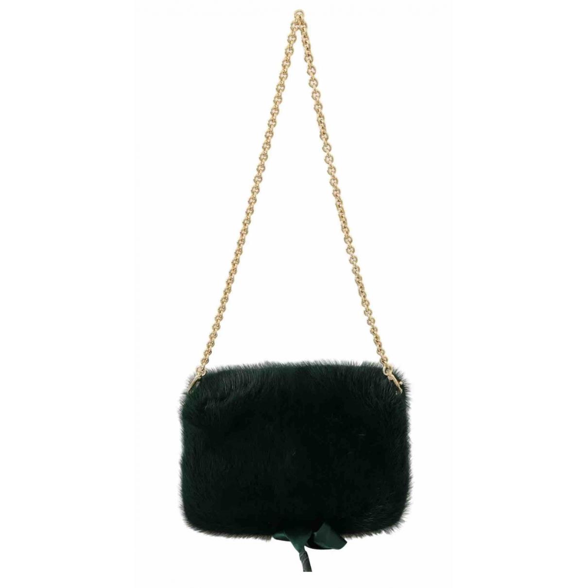 Dolce & Gabbana \N Green Mink Clutch bag for Women \N