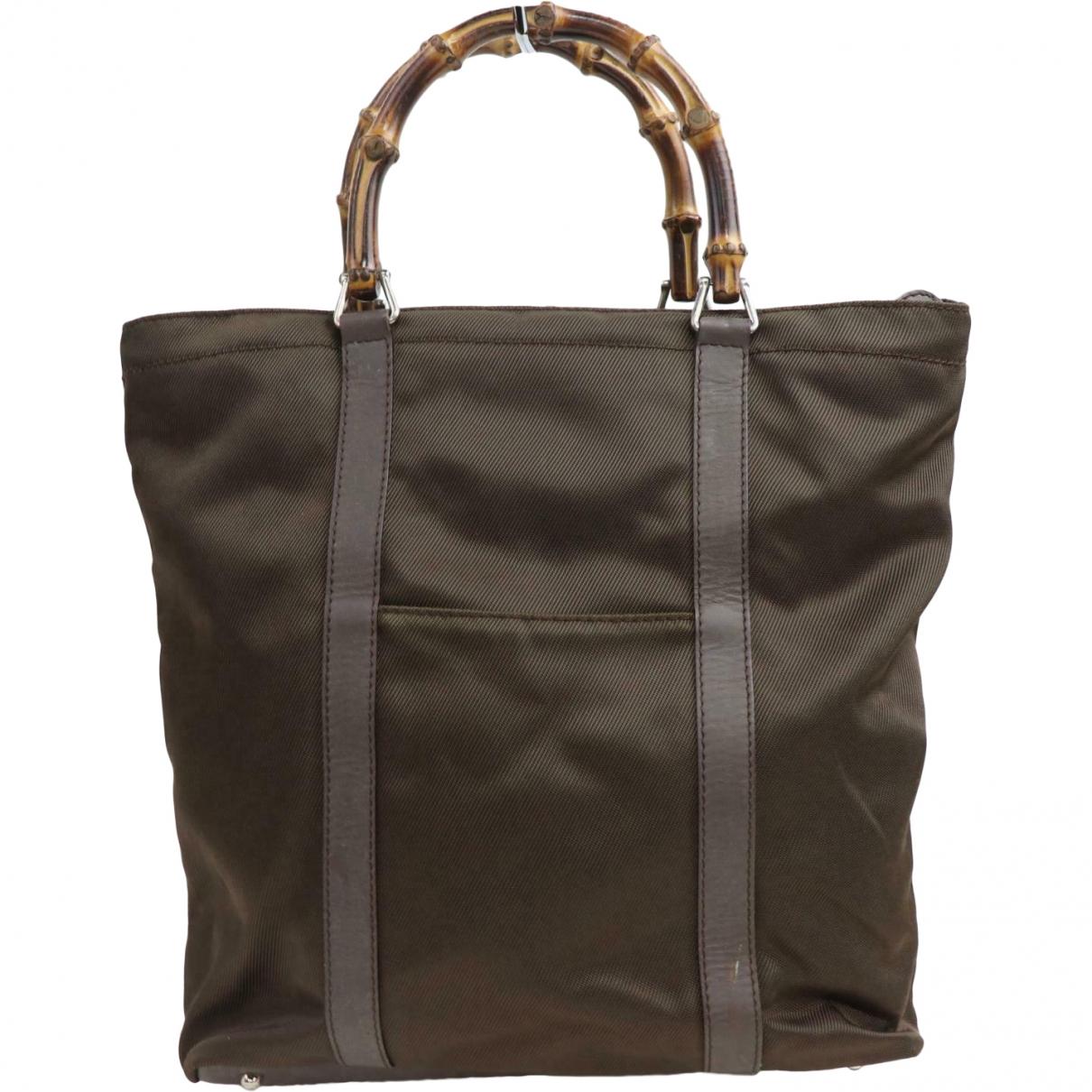 Gucci Bamboo Brown Cloth handbag for Women \N