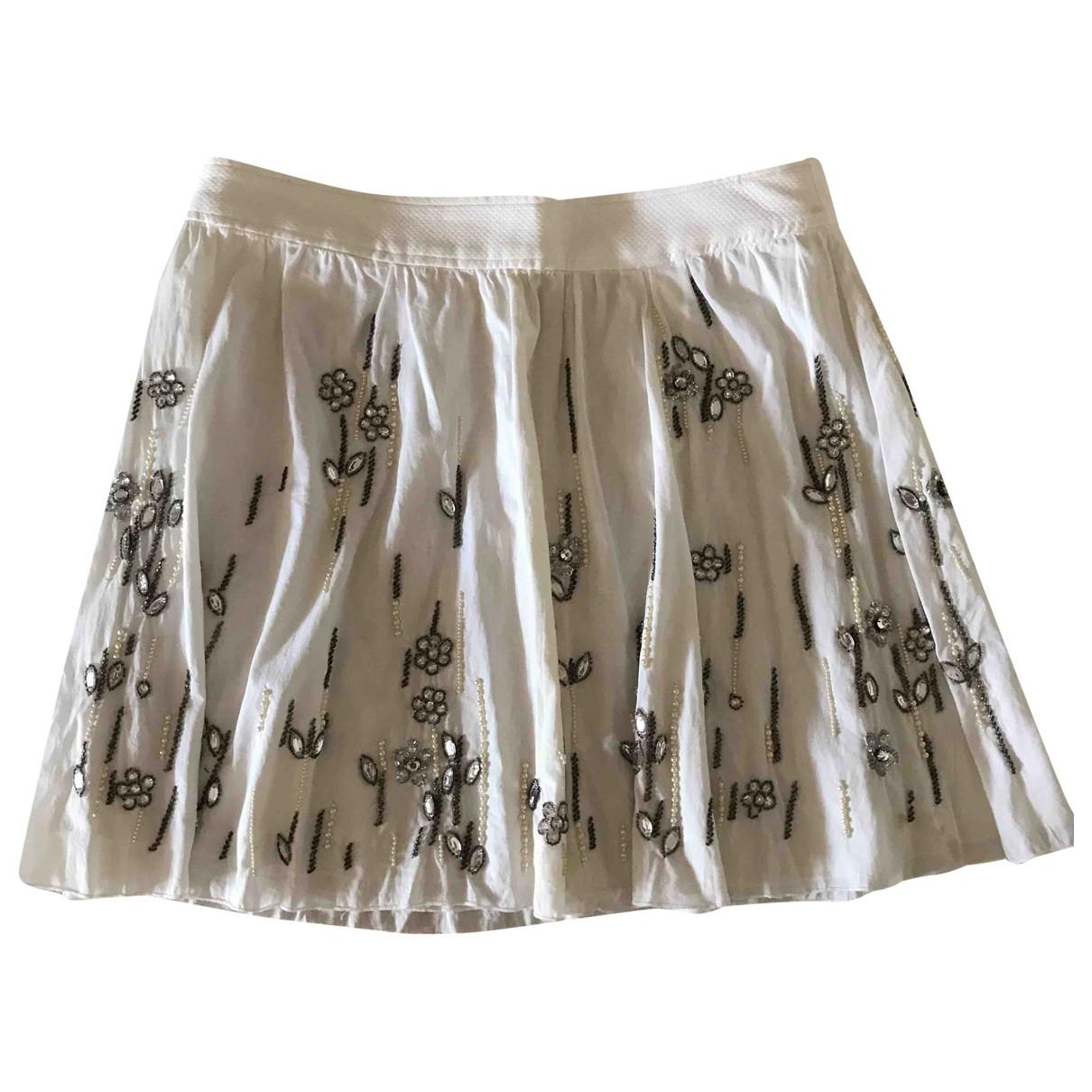 D&g \N White Cotton skirt for Women 40 IT