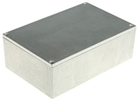 Hammond Shallow Lid - Thin Wall, Natural Die Cast Aluminium Enclosure, IP54, 145 x 95 x 49mm
