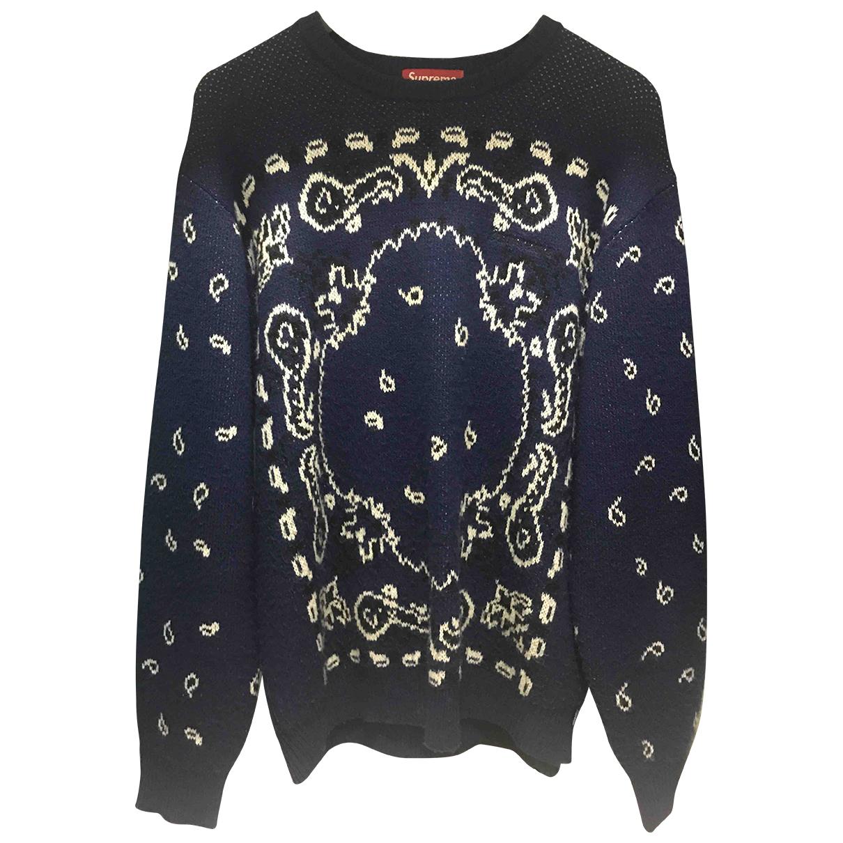 Supreme \N Pullover.Westen.Sweatshirts  in  Blau Wolle