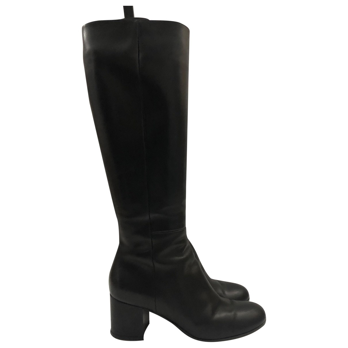 Gianvito Rossi \N Black Leather Boots for Women 36.5 EU