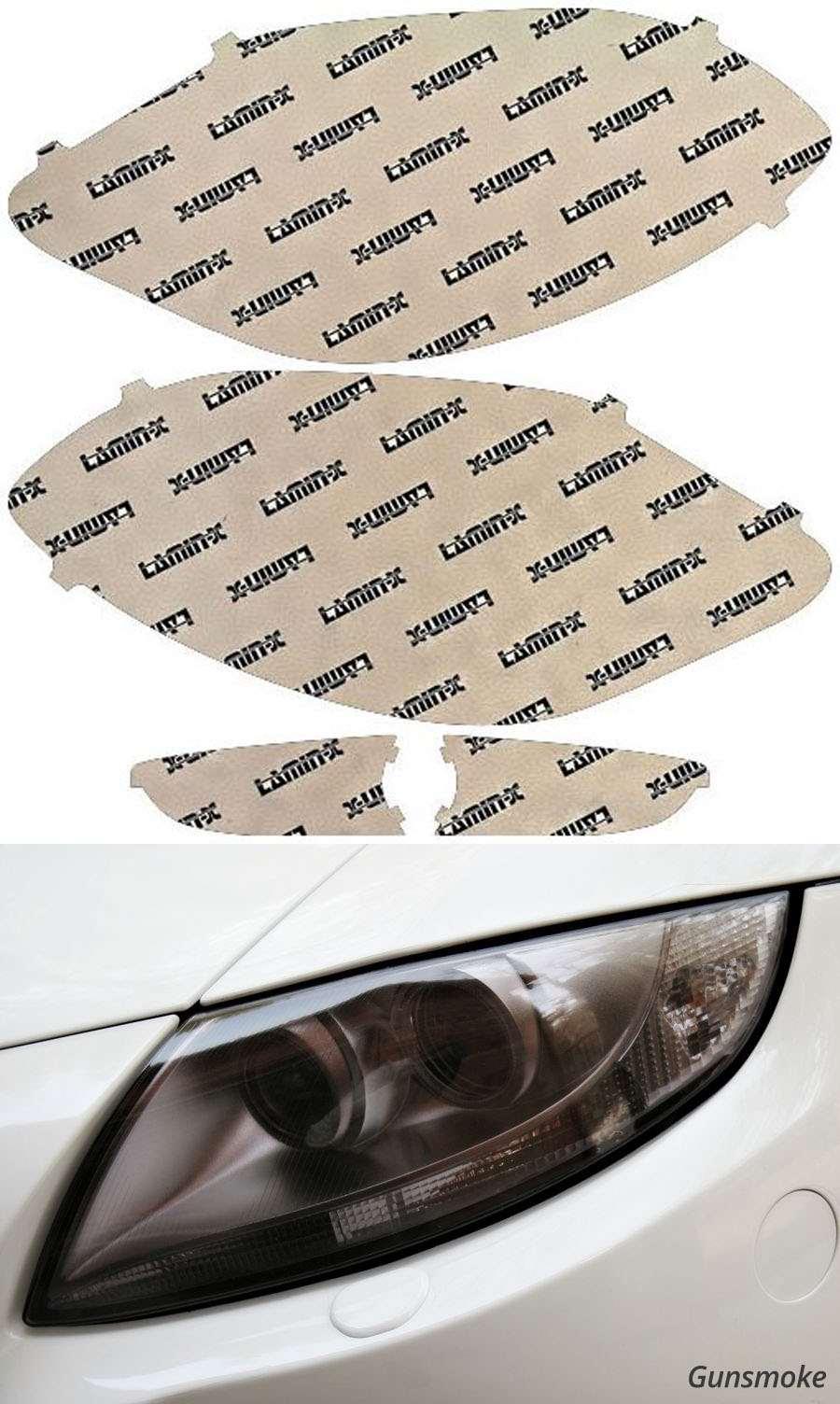Buick Enclave 08-12 Gunsmoke Headlight Covers Lamin-X BU001G