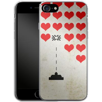 Apple iPhone 8 Silikon Handyhuelle - Heart Attack von Claus-Peter Schops