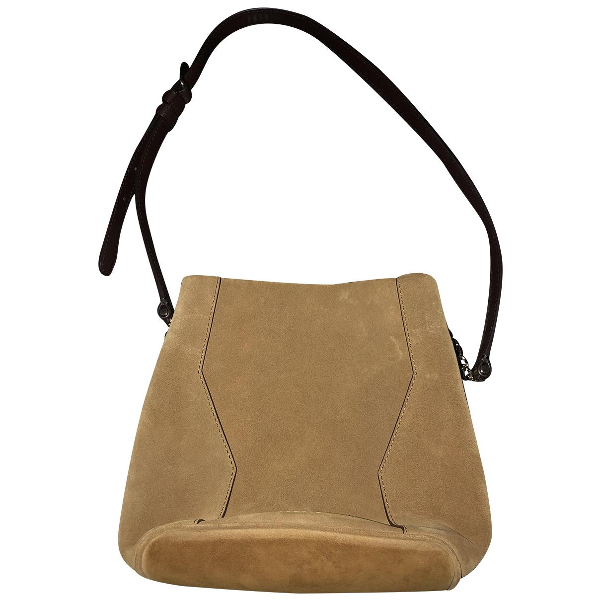 Sandro Fall Winter 2019 Camel Leather handbag for Women N