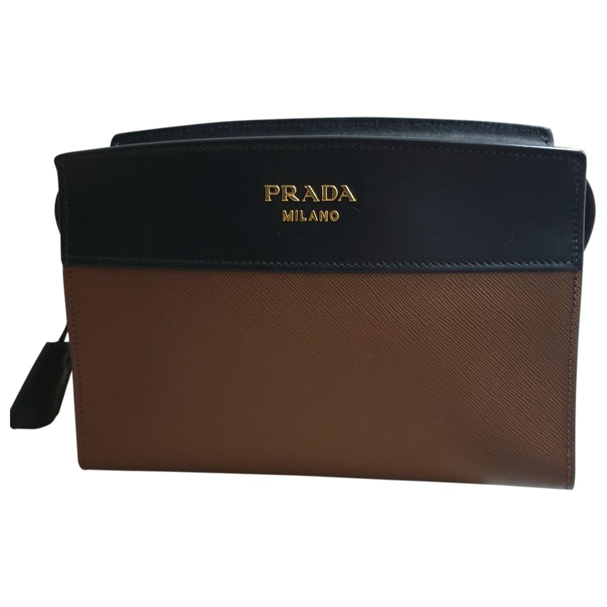 Prada Esplanade Handtasche in  Braun Leder