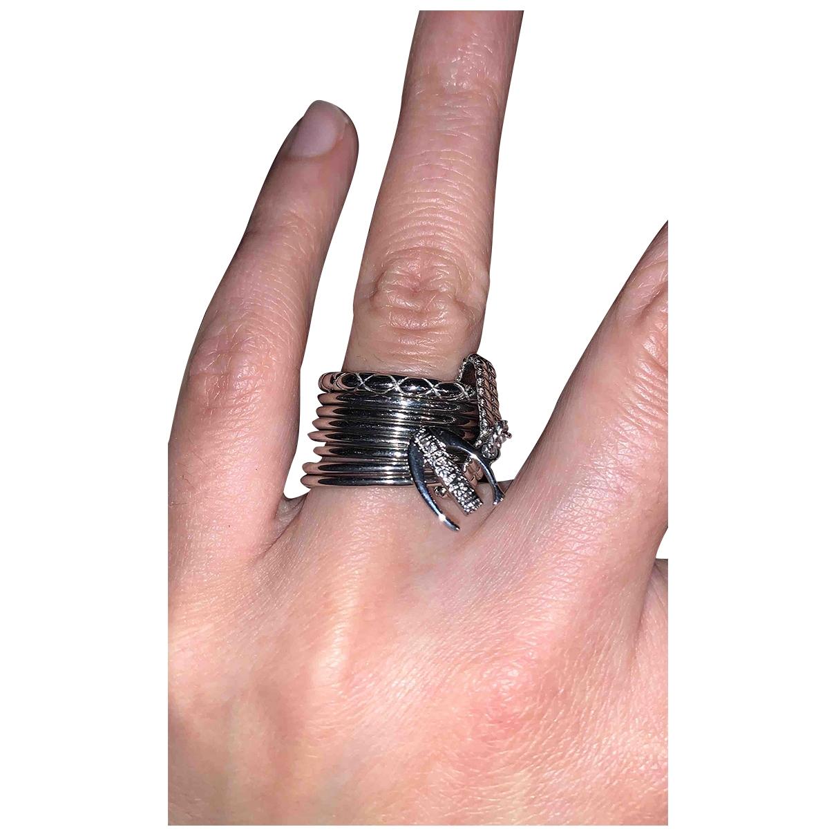 Just Cavalli \N Ring in  Grau Metall