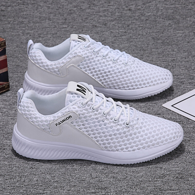 Men Mesh Breathable Lace Up Light Weight Sport Running Shoes