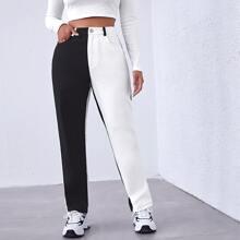 Pantalones de dos colores