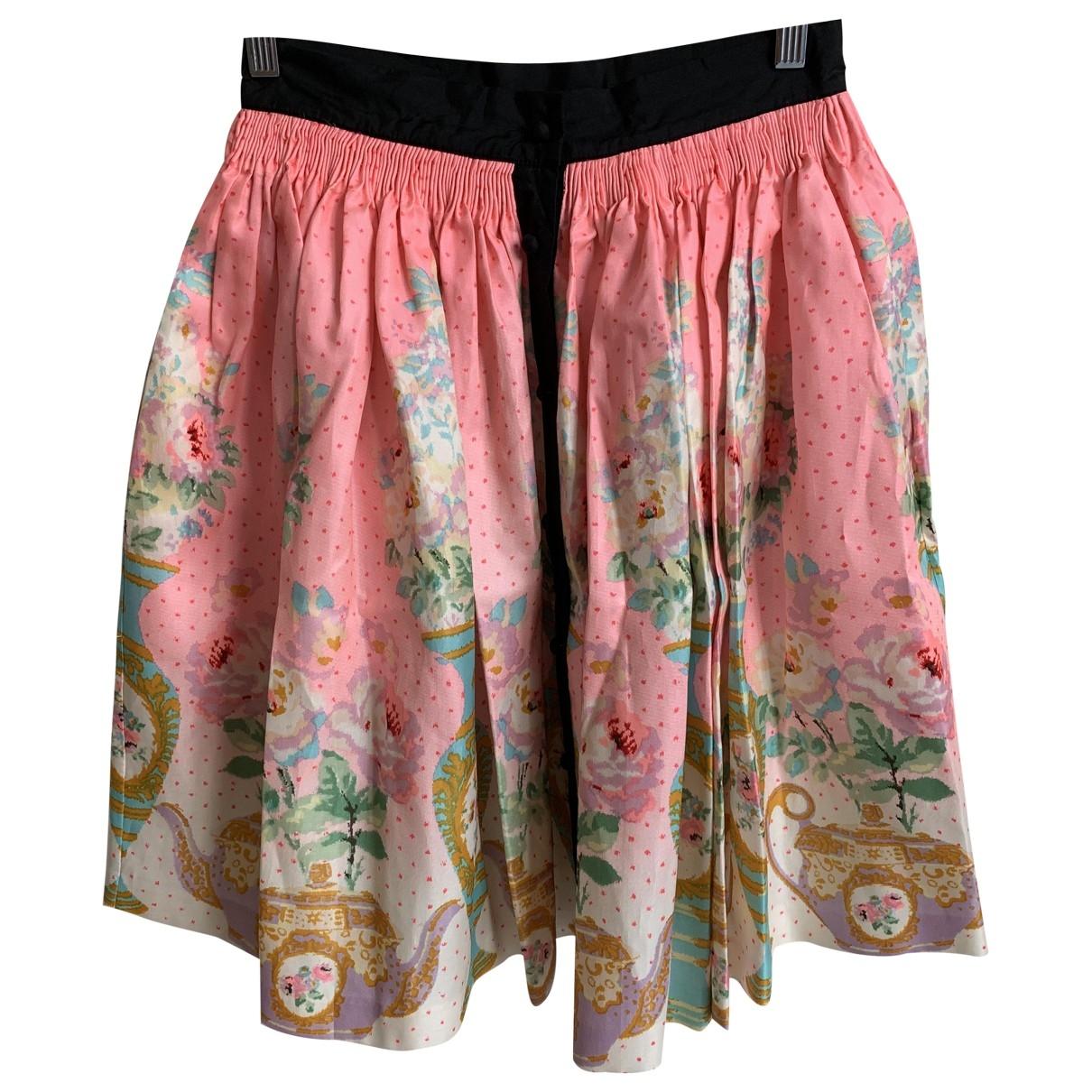 Manoush \N Pink Silk skirt for Women 38 FR
