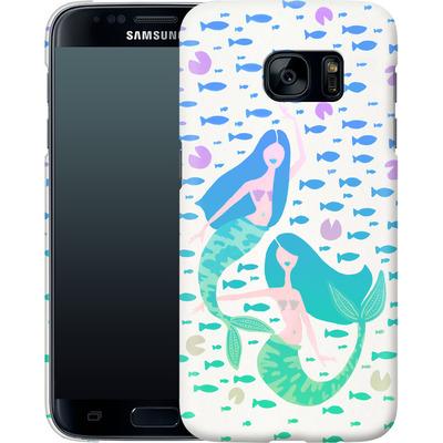 Samsung Galaxy S7 Smartphone Huelle - Mermaids Turquoise von Cat Coquillette