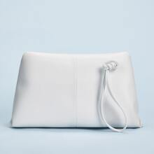 Minimalist Flap Clutch Bag With Wristlet