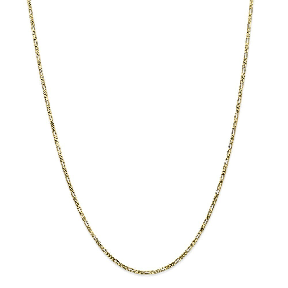 Curata 10k Yellow Gold Solid 1.75mm Mens Figaro Chain Necklace Options 20 22 24 30 (30 Inch)