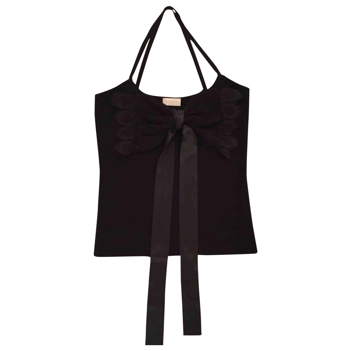 Valentino Garavani - Top   pour femme en coton - noir