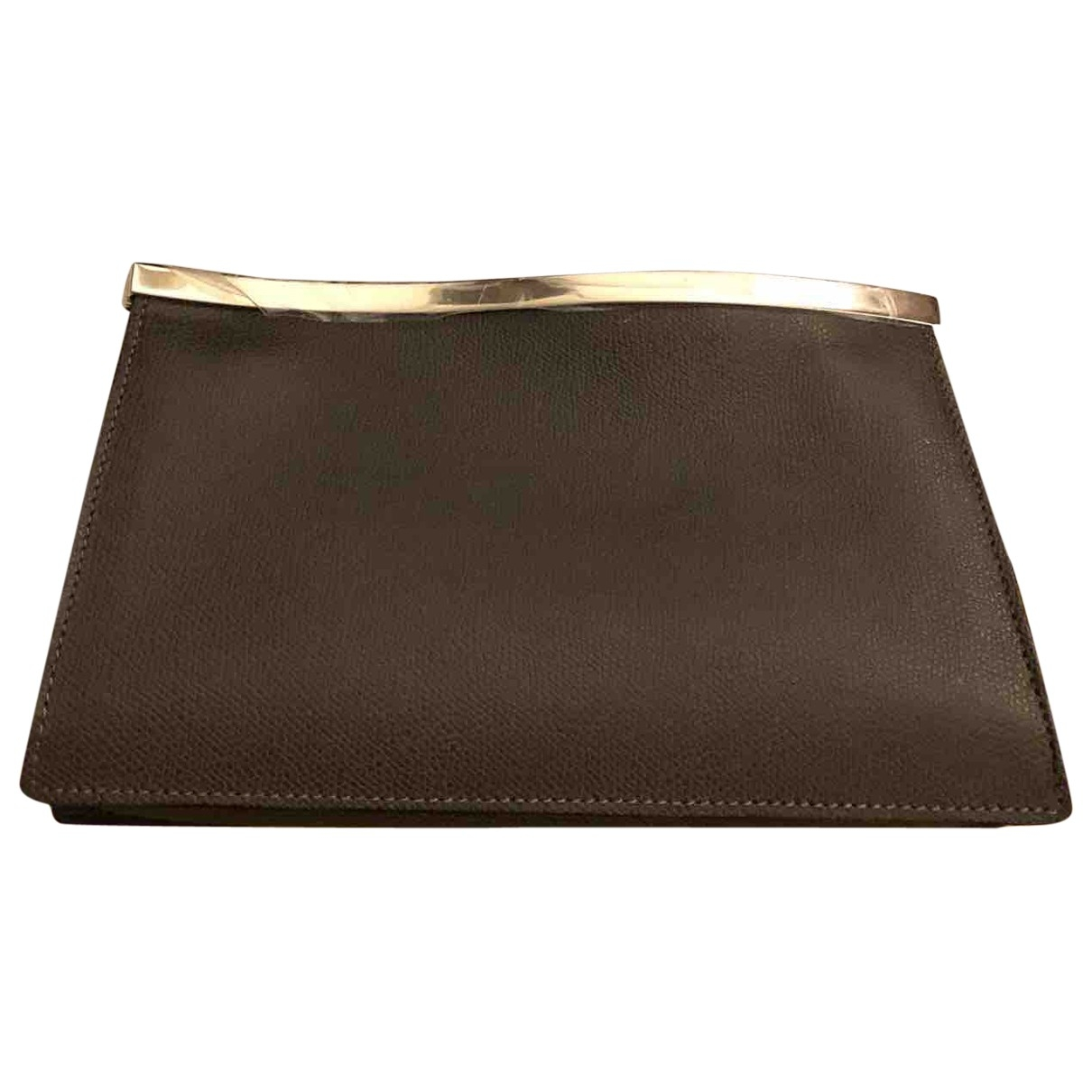 Valextra \N Brown Leather Clutch bag for Women \N