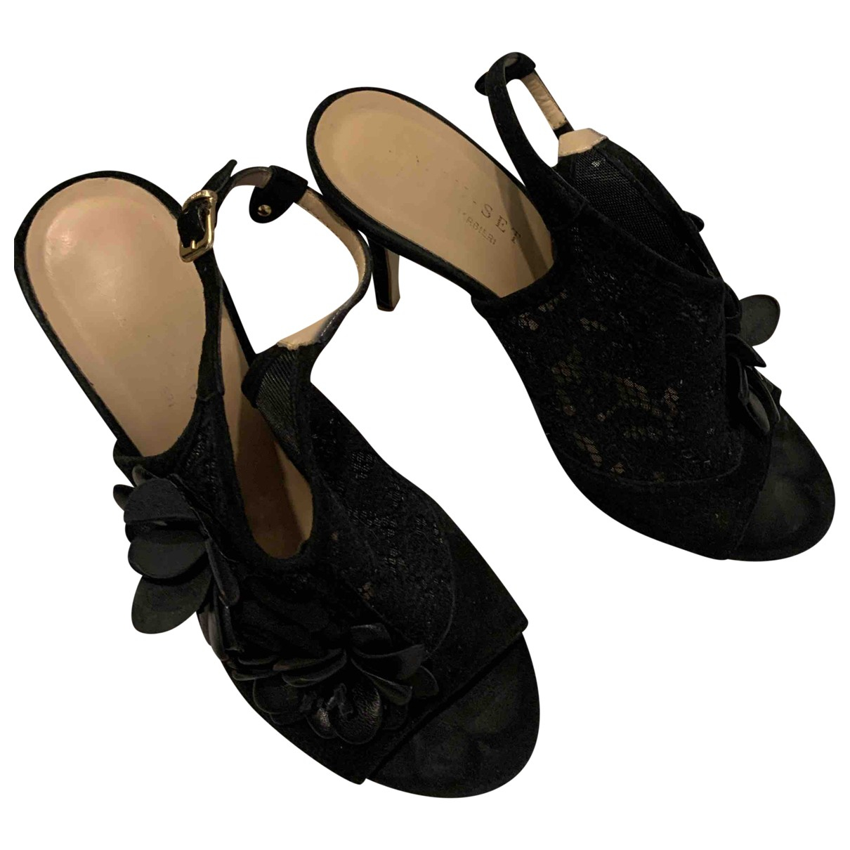 Twin Set \N Black Suede Heels for Women 38 EU