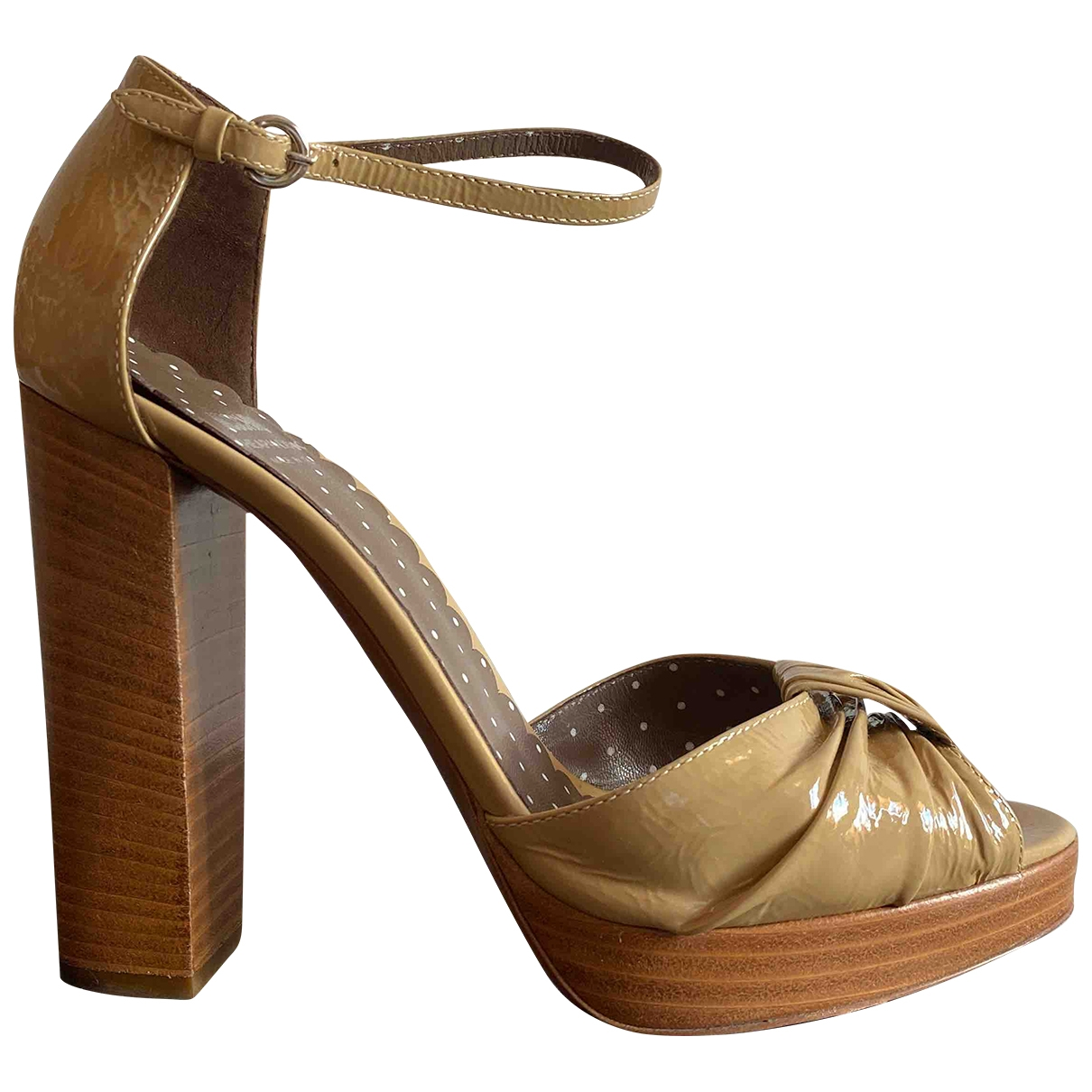 Moschino Cheap And Chic \N Sandalen in  Kamel Lackleder