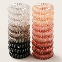 18pcs Coil Wire Hair Tie