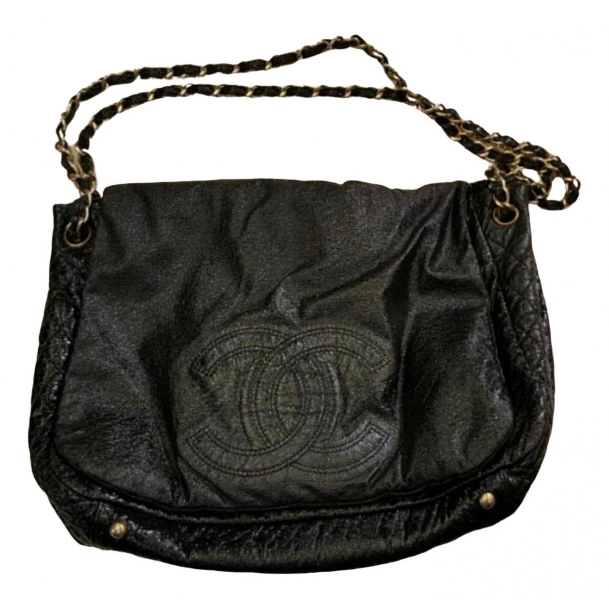 Chanel - Sac a main   pour femme en toile - noir