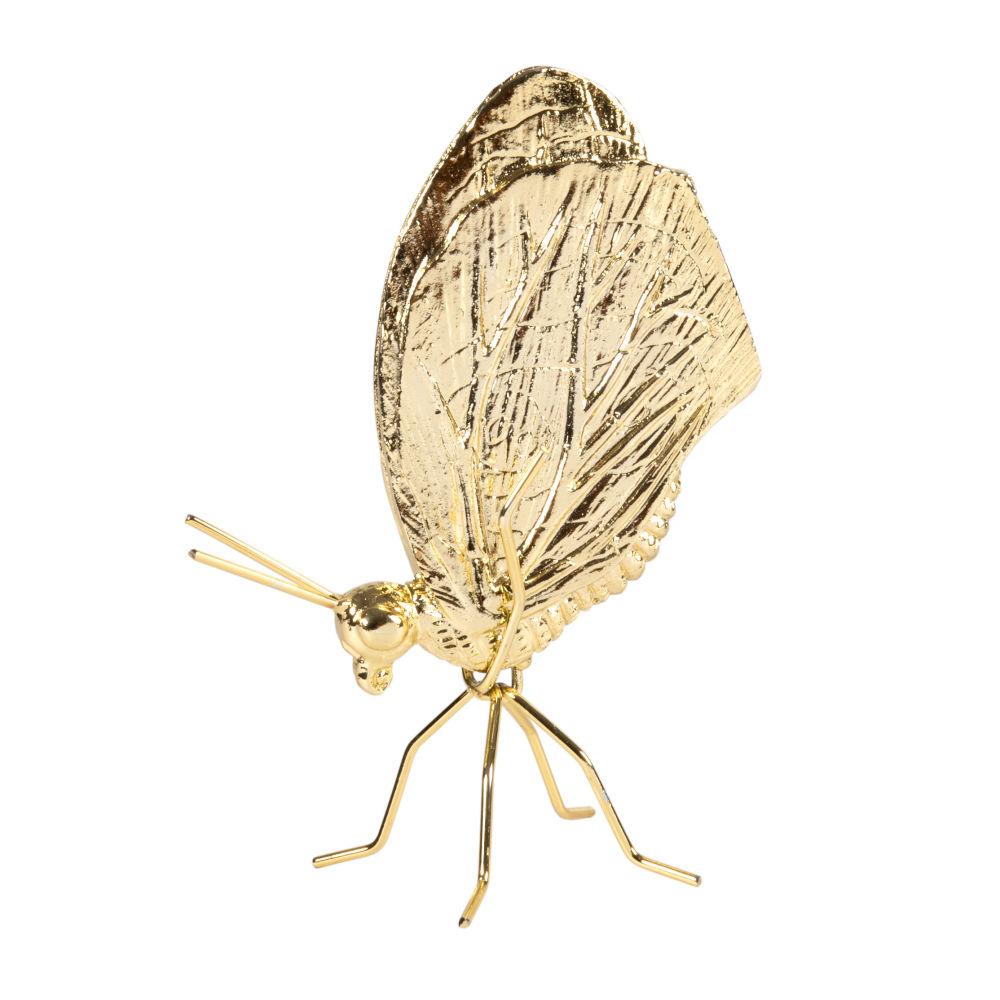 Schmetterling, goldfarben H17